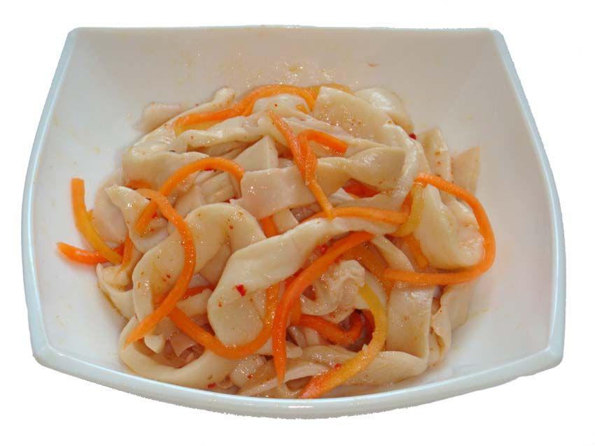Салат с кальмарами морковь по корейски